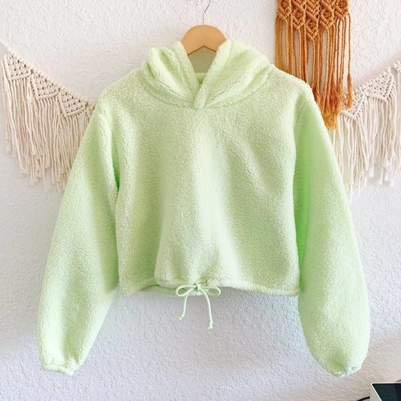 Wild Fable Fluffy Cropped Hoodie